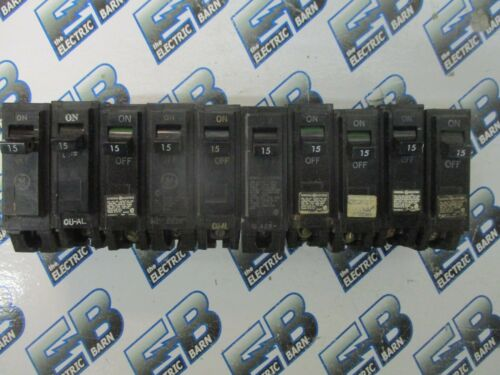 THQL1115 GE LOT OF 10 WARRANTY 15 AMP 1 POLE Circuit Breakers