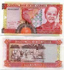 Gambie - Gambia billet neuf de 5 dalasis pick 16 UNC