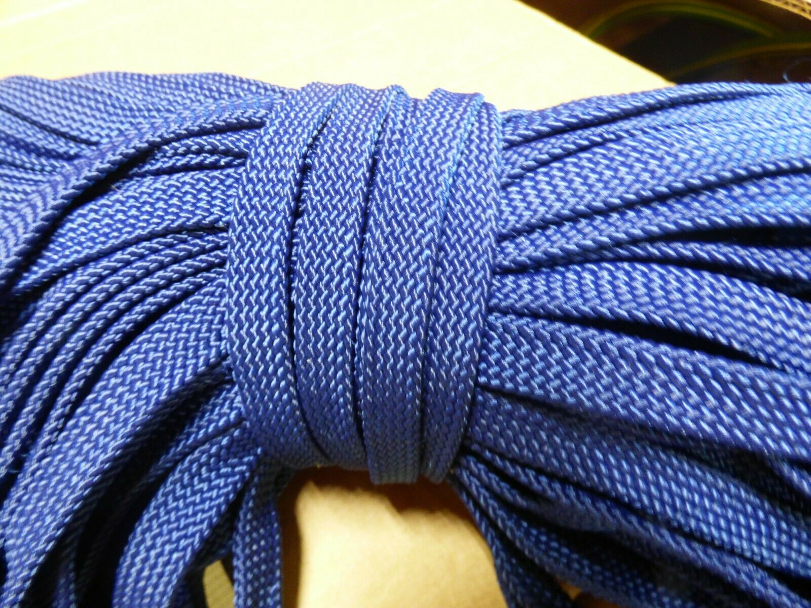 7 16 x 179 ft.  Hollow  Flat Braid Navy Nylon Rope Hank.Discounted. Made in USA  hot limited edition