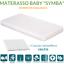 Materasso-Lettino-o-Culla-Bambino-Anallergico-Lavabile-12cm-Cuscino-GRATIS miniatuur 2