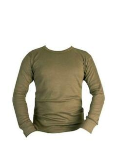 Mens-Kombat-Thermal-Long-Sleeve-Vest-Top-colour-OLIVE-SIZE-SMALL-TO-2XL
