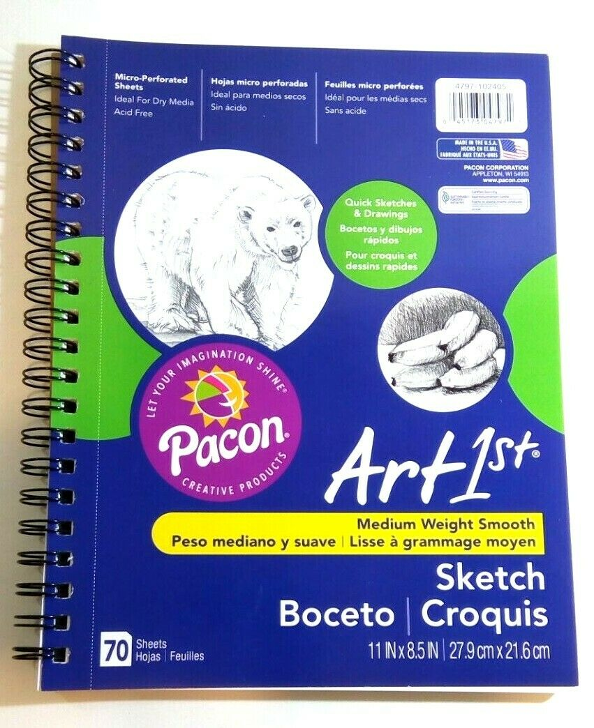 2 Pack 8.5 x 11 Pacon 4794 UCreate Sketch Diary 70 Sheets