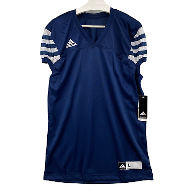 Adidas Climalite Size Large Audible Football Practice Jersey in Blue White NWT | eBay