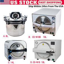 Dental Medical Autoclave Sterilizer Vacuum Steam Sterilization Automatically Us