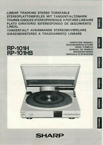 SHARP-RP-101H-RP-101HB-Anleitung-Instruction-Manual-turntable-B18005