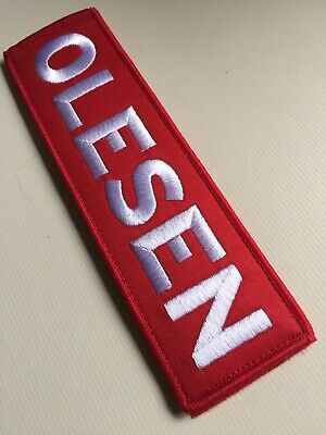 """1x Custom Name Patch 7""""x2"""" CrossFit Plate Weight Vest Hook And Loop 5.11 Airsoft"""