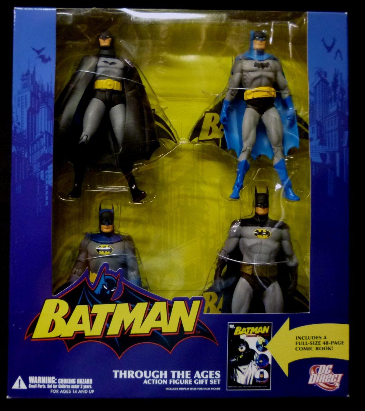 Batman a través de los siglos en caja Figura De Acción Conjunto de Regalo + Comic 2007 Alex Ross.