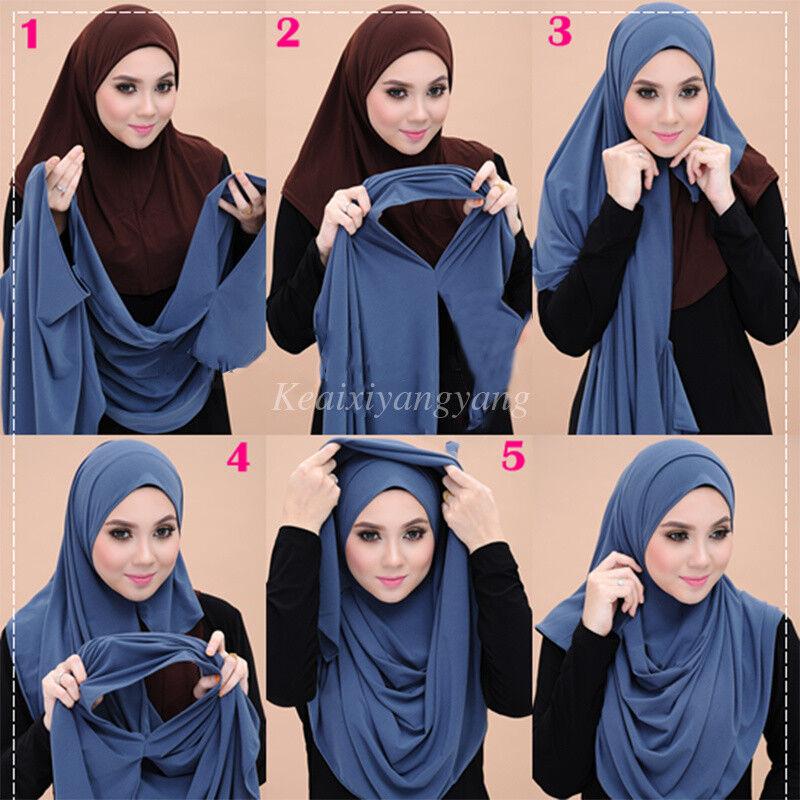 Ramasa Premium Women Viscose Jersey Hijab Scarf  Full Coverage 70.75 x 31.5