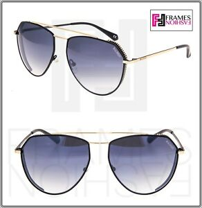 cfc879c79 BALMAIN BL 2532 Matte Black Gold Aviator Metal Gradient Sunglasses ...