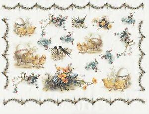 Rice Paper for Decoupage Scrapbook Craft Sheet Flower Easter