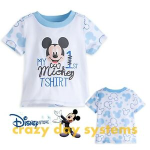 887af052f86 Disney Store Mickey Mouse My First Mickey Tee Shirt Baby Boy 0 3 6 9 ...