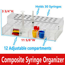 Dental Composite Amp Etch Syringes Organizer Holds 30 Syringes Amp Mini Supplies