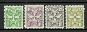 S33024 Malta 1967 MNH Postage Due Tax Postage Stamps 4v Cat #27/30