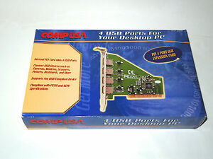 COMPUSA-4-USB-PORT-USB-EXPANSION-CARD-PCi-vintage-pc-hardware
