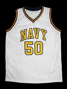 new products 82333 c237b DAVID ROBINSON NAVY US NAVAL ACADEMY JERSEY WHITE NEW SEWN ...