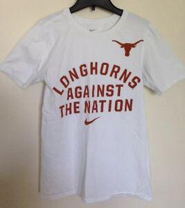 new arrivals 09476 e4007 Image is loading Nike-Texas-Longhorns-UT-Nation-Tee-Shirt-White-