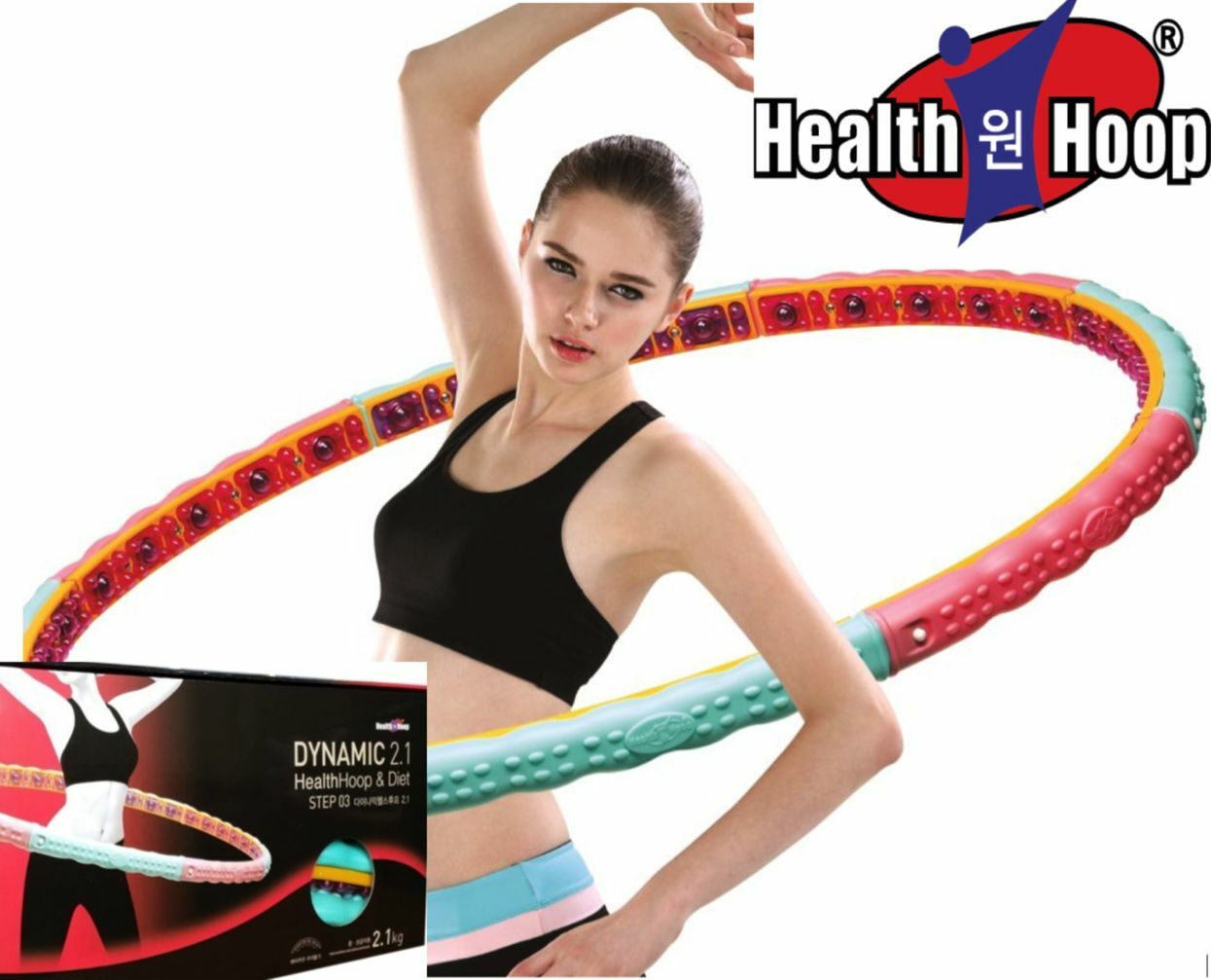 Health Hula Hoop®-Magnetic Weighted hula hoop  for Workout 4.6lb 2.1kg