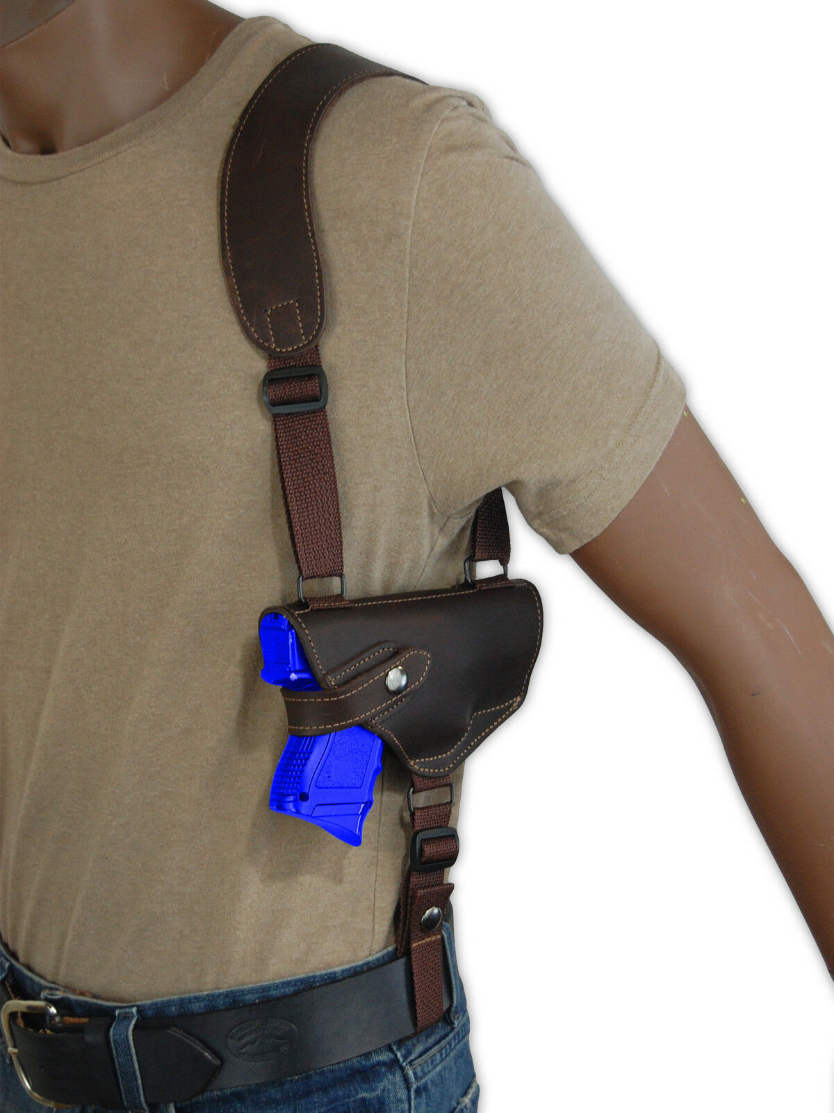 NEW Barsony Horizontal Braun Leder Shoulder 9mm Holster Colt Kimber Comp 9mm Shoulder 40 45 9a7012