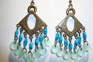 Large Long Indian~Asian Ethnic Boho Chandelier Earrings~ER114~uk ...