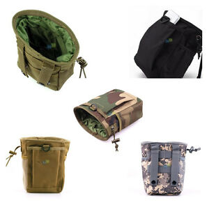 600a8cacfb8c Details about Tactical Drop Pouch Drawstring Military Airsoft Small Molle  Magazine DUMP Ammo