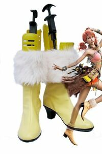 Final Fantasy XIII FF13 Oerba Dia Vanille Cosplay Shoes Boots Custom Made