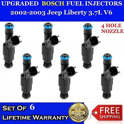 Genuine Bosch Single Fuel Injector for 02-03 Dodge Ram 1500 Jeep Liberty 3.7L