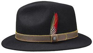 1 Neu Hut Wollhut Stetson Trend Atlanta Woolfelt Hüte Schwarz Traveller BYPxf