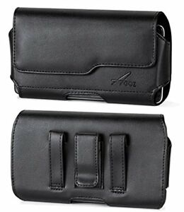 AGOZ-Leather-Belt-Clip-Magnetic-Closure-Pouch-Case-Cover-for-Samsung-Cell-Phones