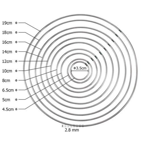 10PCS Bind Metal Ring Welding Iron Macrame Hoop for DIY Dream Catcher 10 Sizes