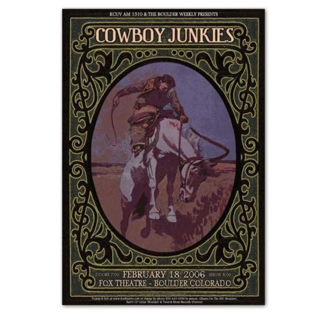 Cowboy Junkies Original Concert Poster Handbill 2006 Boulder CO - NEW