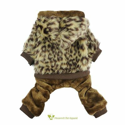 Fitwarm Warm Dog Coat Winter Pet Clothes Hooded Jumpsuit Apparel Outfit XS S M L