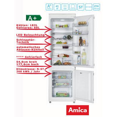 Einbau Kühl Gefrierkombination 178er Nische 260 Liter Amica EKGC 16167