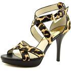 Michael Michael Kors Evie Platform Women US 7 Brown Pre Owned 2892