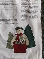 Daisy Kingdom Christmas Fabric Craft Panel Snowman With Tress Easy Sew