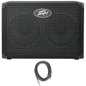 Peavey-Headliner-210-2x10-034-8-Ohms-Bass-Guitar-Amp-Extension-Cabinet-FREE-Cable