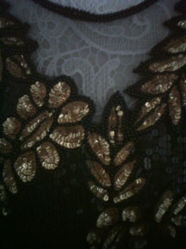 pura paillettes Usher Szl oro nera Top Fantastico formale Seta Frank 7xwUq1dUZ