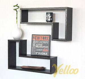 2 mensole design in legno parete soggiorno camera da letto - Mensole per camera da letto ...
