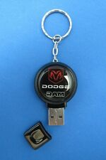 DODGE RAM LOGO 2GB THUMB DRIVE KEYRING KEY RING CHAIN #061 BLACK
