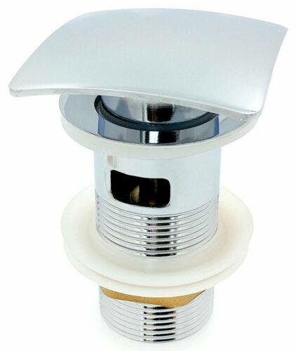 "Square Chrome Mushroom Dome Click Clack Basin Sink Waste Slotted 1 1//4/"" Bathroom"