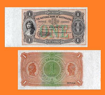 Reproduction UNC Australia 1 Pound 1910