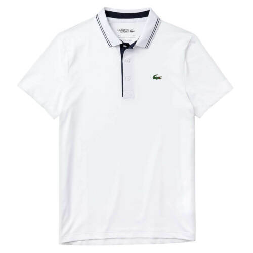 Lacoste Mens 2020 DH6843 Ribbed Collar Super Dry Stretch Crocodile Polo Shirt