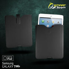 Black Slip In Case Pouch for iPad 2 3 4 Samsung Galaxy Tab 2 3 10.1 PU Leather