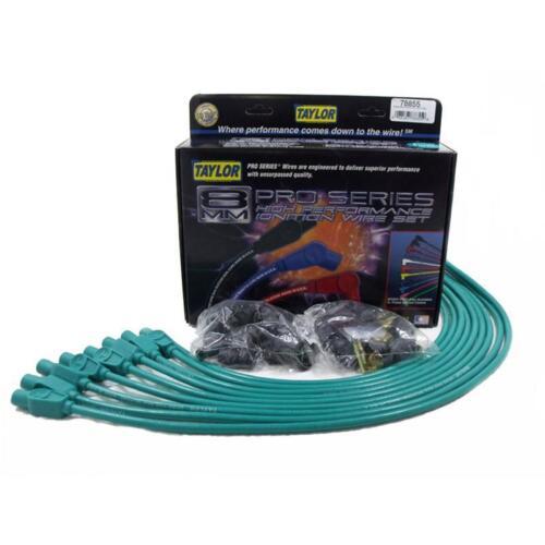 Taylor Spark Plug Wire Set 78855; Spiro Pro 8mm Teal Straight Universal
