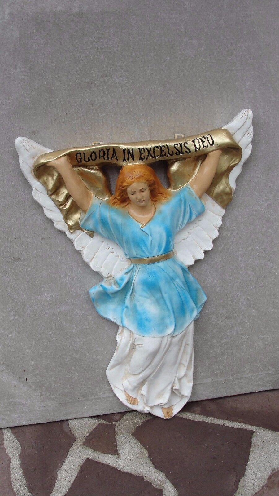 Gloria in Excelsis Figur Engel Krippenfigur Weihnachten Krippe Skulptur Relief