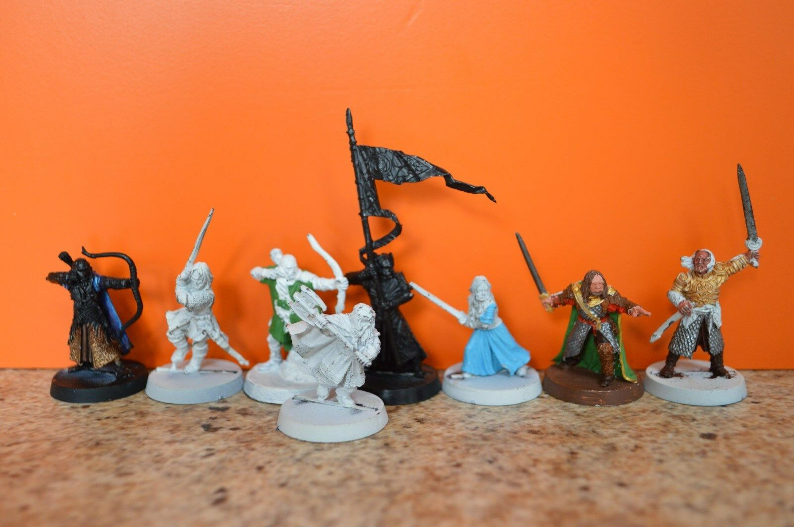 Games Workshop LOTR Metal Figures Heroes Of Helms Deep 8 Figures - Nov 2002