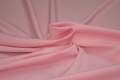 Light Poly Viscose Pablo Stretch Suiting Dress Fabric Material (Pinky Peach )