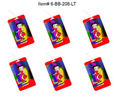 """Betty Boop Refrigerator Magnet Red Motorcycle 4x6"""" 3D Lenticular #BB205-MAL#"""