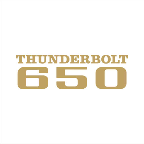 "British BSA motorcycle THUNDERBOLT 650 emblem decal sticker LG 5/"" color options"