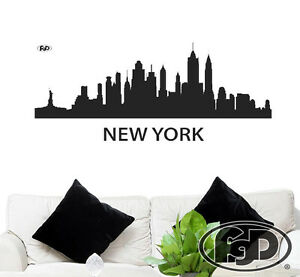 Details about Wall Decal New York City skyline 22
