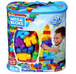 Building-First-Classic-Big-Bag-80-Piece-Set-Mega-Builders-Blocks-Blue-Set